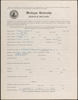 01.004.038 World War I Service Record for Robert W. Clarke