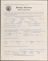 World War I Service Record for Everett Avery Churchill, p. 1