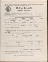 01.004.030 World War I Service Record for Frank Anson Churchill