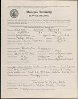 01.004.041 World War I Service Record for Thomas Sparks Cline