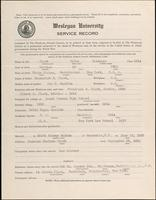 01.004.037 World War I Service Record for Silas Skidmore Clark