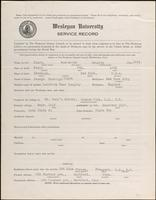 01.004.033 World War I Service Record for Frederick Langley Clark