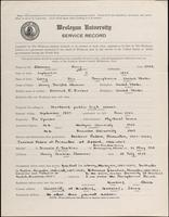 01.004.039 World War I Service Record for Harry Clemons