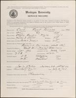 01.004.035 World War I Service Record for Frank Robinson Clark