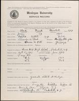 01.004.034 World War I Service Record for Frank Marshall Clark