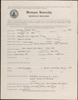 01.004.040 World War I Service Record for Everett Ross Clinchy