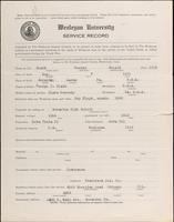 01.004.036 World War I Service Record for George Ronald Clark
