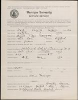 01.005.005 World War I Service Record for Chester Graves Cole