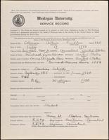 World War I Service Record for Arthur Prudden Coleman, p. 1